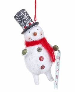 Merry Snowman Ornament