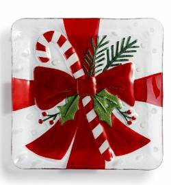 Present with Candy Cane Plate