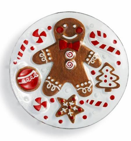 Gingerbread Man Round Plate