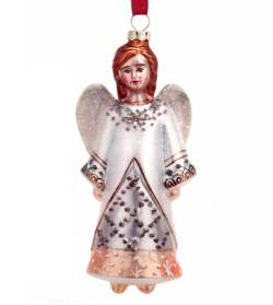 Blown Glass Angel Ornament