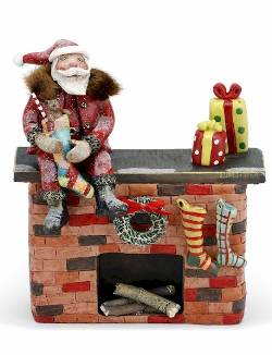 Santa on Fireplace