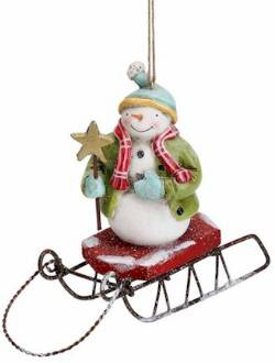 Snowman on Sled Ornament_THUMBNAIL