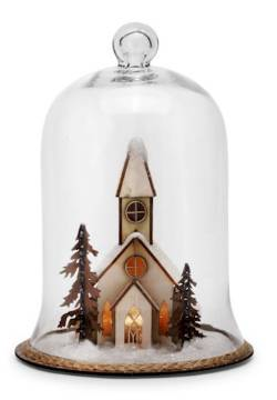 Lit Church Scene Cloche - Large THUMBNAIL