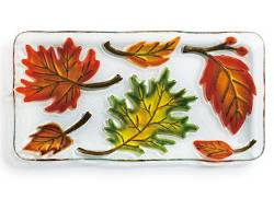 Fall Leaves Rectangular Plate