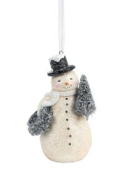Snowman with Wreath & Tree Ornament THUMBNAIL