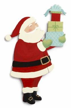Santa with Packages Magnet THUMBNAIL