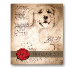 Leonardo's Dog Notecard Set