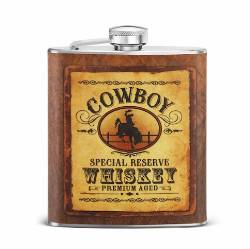 Cowboy Whiskey Flask