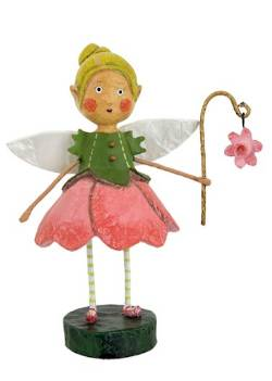 Little girl in fairy dress with flower figure THUMBNAIL
