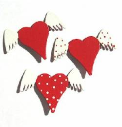 Heart with Wings Magnets THUMBNAIL