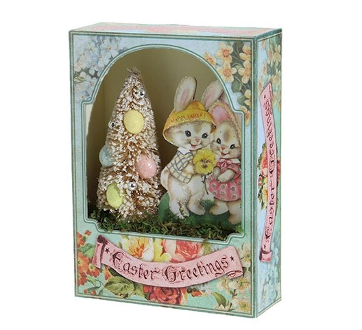 Easter Greetings Shadow Box LARGE