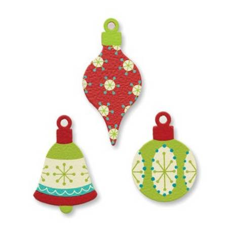 Painted Christmas Ornament Magnets