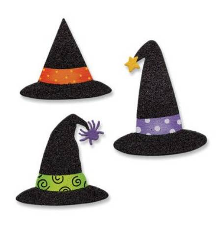 Glittered Witch Hat Magnets