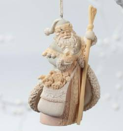Santa with Staff Ornament