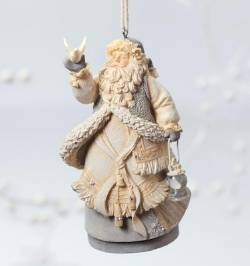 Santa with Peace Dove Ornament