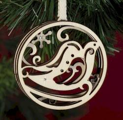 Peace on  Earth Dove Ornament THUMBNAIL