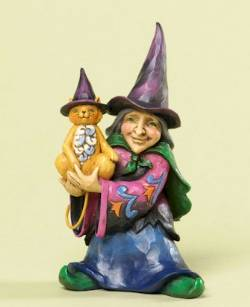Mini Witch with Cat