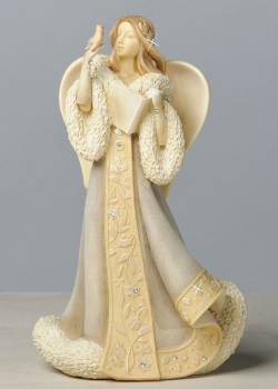 Winter Angel with Bird