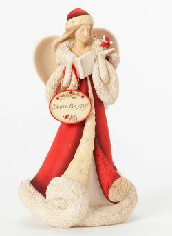 Angel with Caroling Mouse