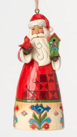 Santa with Birdhouse Ornament