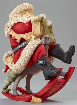 Santa on Rocking Reindeer