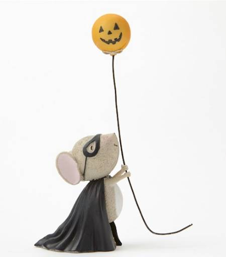 Mouse with Pumpkin Balloon