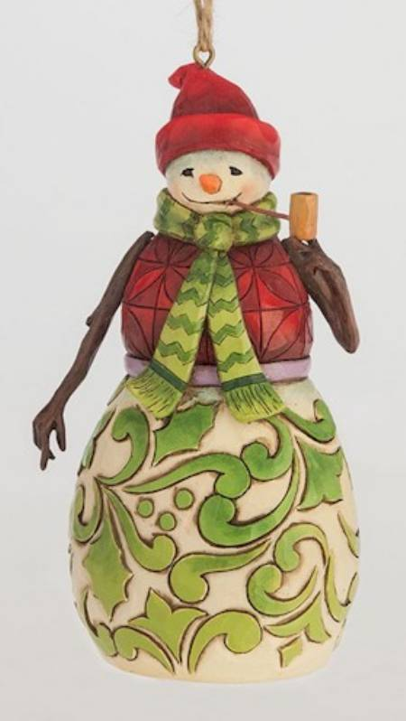 Red and Green Snowman Ornament