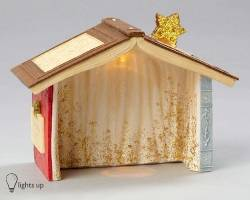 Lighted Nativity Creche