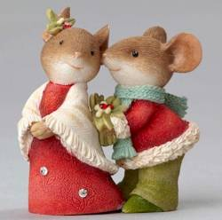 Mouse Couple with Holly