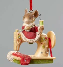 Mice Sewing Machine Ornament