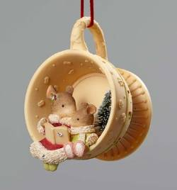 Mice in Teacup Ornament