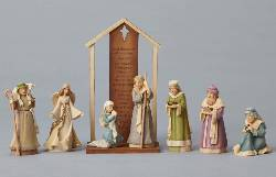 Mini Colorful Nativity Set
