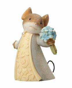 Mouse with Forget-Me-Not