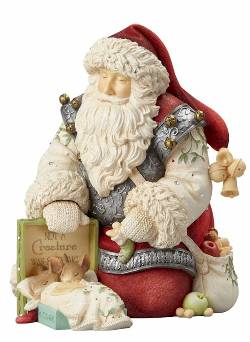 Santa with Sleeping Mice THUMBNAIL