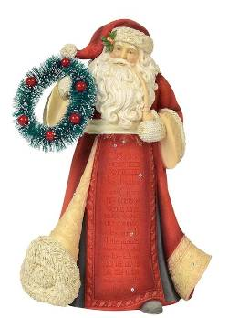 Santa with Wreath Figure THUMBNAIL