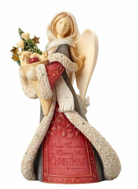 Angel with Winter Basket