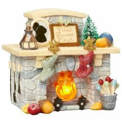 Lighted Fireplace