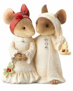 Mouse Couple with Candle