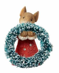 Mouse with Wreath THUMBNAIL