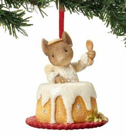 Mouse Angel Food Cake Ornament