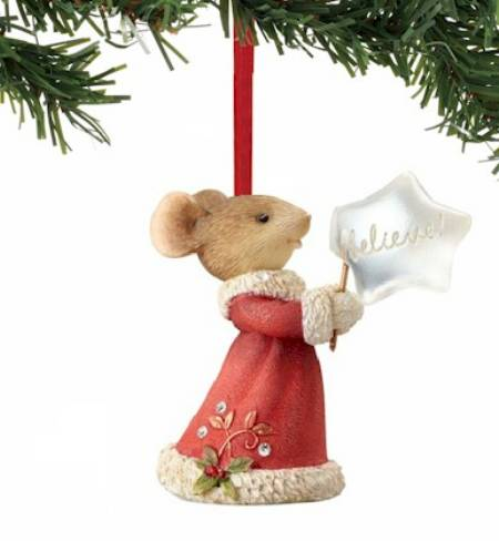 Mouse Believe Ornament