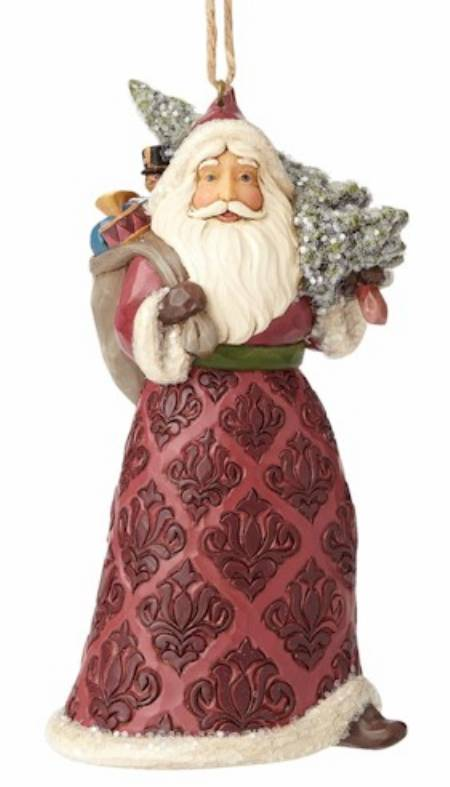 Victorian Santa with Tree Ornament