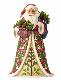 Santa with Pinecone Basket