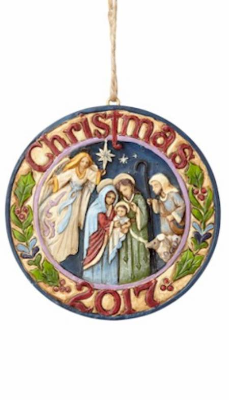 Dated 2017 Nativity Ornament