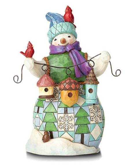 Snowman with Birdhouses Figure