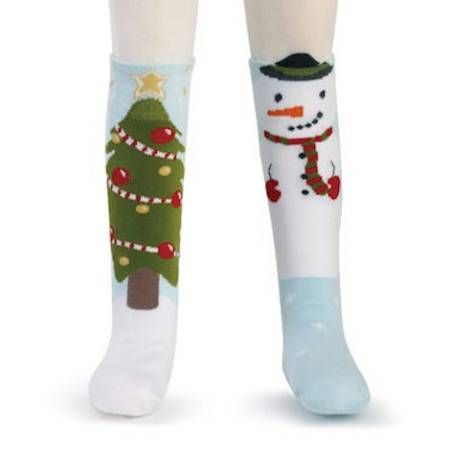Snowman and Tree Knee Socks