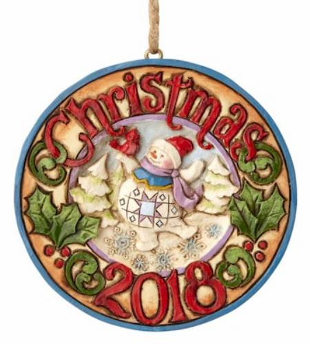 Snowman with Cardinal 2018 Ornament