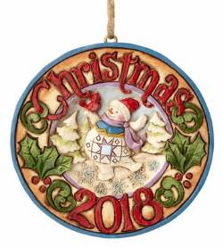 Snowman with Cardinal 2018 Ornament_THUMBNAIL