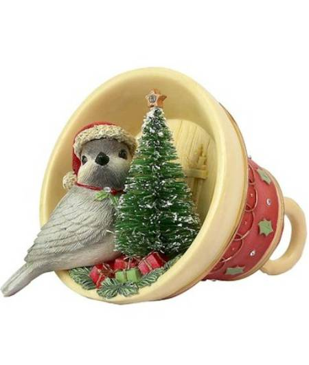 bird in cup christmas figure LARGE