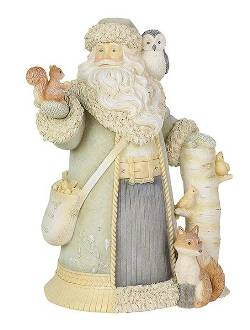 Santa with Woodland Animals Figure THUMBNAIL